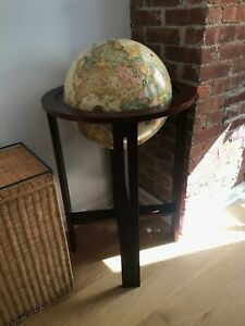 Spinning World Globe in stand