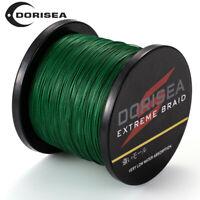 Dorisea Vert Mousse 300M/1000M/2000M Super Puissance Pe Tressé Pêche Ligne