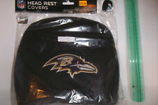 AS IS #20 2 pack Car Headrest Covers Baltimore Ravens Auto Tailgate NFL Truck