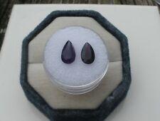 Amethyst Pear Loose Faceted Natural Gem Pair 10 x 6mm