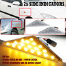 Clear Side Marker Light Indicators Repeater Lamp For Ford Focus Mk1 Mondeo Mk3