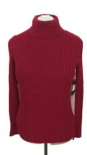 GNU Red Turtleneck Sweater, New With Tags, Women's Size L