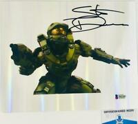 Steve Downes signed Master Chief 8x10 refractor photo HALO BAS M62283