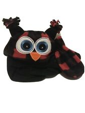 Trailcrest Red Plaid Toddler Eyed Pull On Hat & Mitten Set - One Size