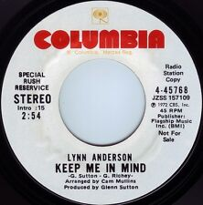 LYNN ANDERSON Keep Me In Mind ((**NEW UNPLAYED 45 DJ**)) from 1972