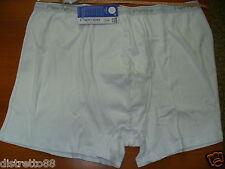 2 boxer PIERRE conformato costina puro cotone Tg 7/XXL OVERSIZE cm138/142 bianco