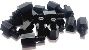 eXXtreme CPU (M4) Nylon Motherboard Mounting screws 8mm/6mm Black - 20 Pack