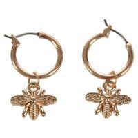 2X(1 Paar Chic Gold Farbe Kleine Biene Anhänger Band Ohrringe Für Frauen Net C1z