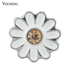 Snap Charms Vocheng 18mm Flower Crystal Buttons Jewelry Vn-373