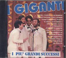 I GIGANTI - I piu' grandi successi - CD SIGILLATO SEALED