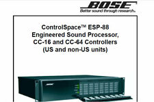 BOSE CONTROLSPACE ESP-88 ENGINEERED SOUND PROCESOR CC-16 CC-64 SERVICE MANUAL EN