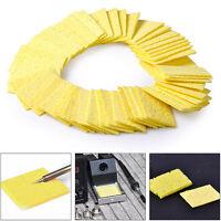 50x Soldering Cleaning Pads Sponge Solder Iron Tip Sponges Welding Yellow
