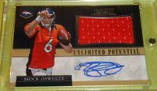 2012 Brock Osweiler Broncos auto jersey Prominence #17/25 Jersey #