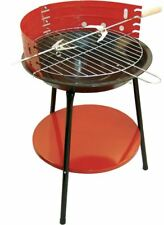 14-inch Portable Outdoor Garden BBQ Round Charcoal Camping Grill With 6 Skewers