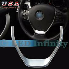 New Style Glossy Chrome Steering Wheel Cover Trim For BMW 3 1 Series 2013-2015