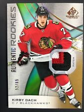 2019-20 Kirby Dach Upper Deck SP Game Used GOLD Authentic Rookies 3 Color /65