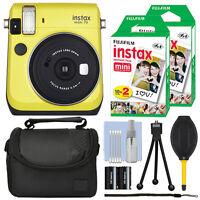 Fujifilm Instax Mini 70 Fuji Instant Film Camera Canary Yellow + 40 Film Bundle