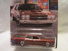 Hot Wheels TALLER a medida '70 Chevelle Ss Wagon Real Riders Ruedas 2/10