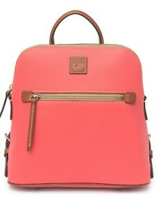 dooney and bourke leather backpack geranium NWT