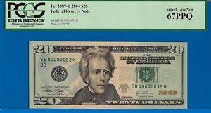 2004 $20 FRN (( Birthday / Anniversary )) PCGS Superb-Gem 67PPQ # EB00000092H-