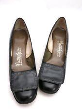 Vtg 1960s Naturalizer Shoes Low Heeled Pumps Black Calf Leather 7.5 M Orig Box