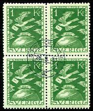 SCHWEDEN 1924 171 gestempelt im VIERERBLOCK VERY FINE(Z2233