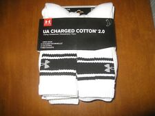 Under Armour Charged Cotton 2.0 Crew Socks - 6 Pairs -Large