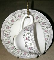 Vintage Floral  Bone China Tea Cup and Saucer Made in England