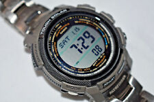 """RARE! Casio Japan Men's PAW2000T """"Pathfinder"""" Digital Titanium Watch SOLAR"""