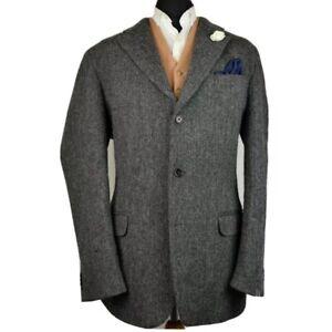 Vtg Harris Tweed Tailored Country Herringbone Blazer Jacket 46L #165 SUPERB