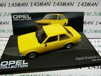 OPE41R voiture 1/43 IXO OPEL collection : KADETT C 3p 1973/1979 JAUNE