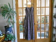 SERALINA LEOPARD PRINT BEADED SILK DRESS SEE-THRU BELT WRAP Size 8 PROM FORMAL