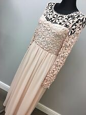 Club L Crochet Maxi Dress With Long Sleeves ASOS (AS-44/30)