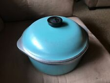 Vtg Turquoise Club Aluminum 4 Qt Dutch Oven Pot Aqua Retro Cookware Covered Lid