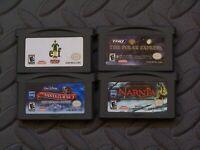 Lot Nintendo Game Boy Advance GBA Games Elf + Santa 3 + Polar Express + Narnia