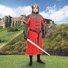 KING RICHARD Lionheart MEDIEVAL KNIGHT Red Velvet MEN TUNIC SURCOAT with LINING