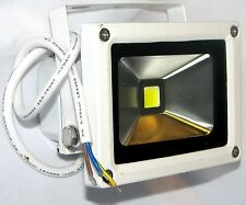 White Outdoor Impermeable Ultra Brillante De 10w Led Luz de inundación, 800 Lumens, 70w equiv