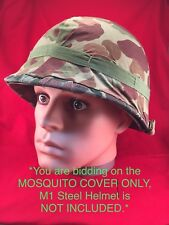 WWII USMC M1944 Camouflage Mosquito Net / Sniper Vail for M1 Helmet NOS Unissued