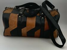 Handcrafted Moroccan Genuine Leather Weekender Duffel Overnight Gym Bag