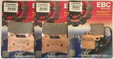Ducati 748 (1999 to 2002) EBC Sintered FRONT and REAR Disc Brake Pads (3 Sets)