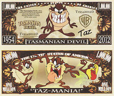 RARE: TAZ, Tasmanian Devil $1,000,000 Novelty Note, Cartoons Buy 5 Get one FREE