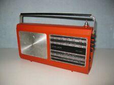 ancien poste de radio portable transistor vintage design 1970 REGLER TR44 orange