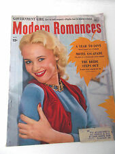 MODERN ROMANCES magazine 1951 October ROMANCE/ADULT/SEX see contents page