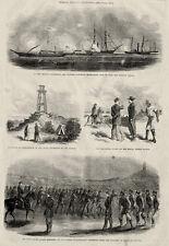 Morris Island South Carolina SC Civil War Scenes Lighthouse, Negro Fatigue Party