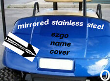 Ezgo Golf Cart Stainless Steel  Front Name Plate free shipping