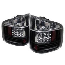 Pair Black LED Tail Lights Lamps Chevy S10 GMC Sonoma 94-04 Isuzu Hombre 96-00