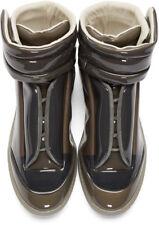 New Mens MAISON MARGIELA Grey Transparent Future High Top Sneakers Boots 10 43
