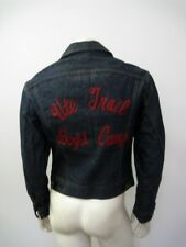 Vintage 1960s LEE 101-J Chain Stitch Embroidered TRAIL CAMP Jacket Size 38