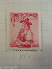 AUTRICHE AUSTRIA, 1958, timbre 893, COSTUME, neuf*, OSTERREICH VF MH STAMP