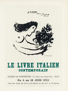 Marc Chagall lithograph poster (printed by Mourlot)  86798980